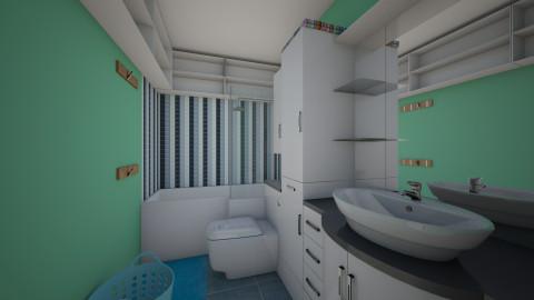 Tiny Bath - Minimal - Bathroom  - by thealphagirl