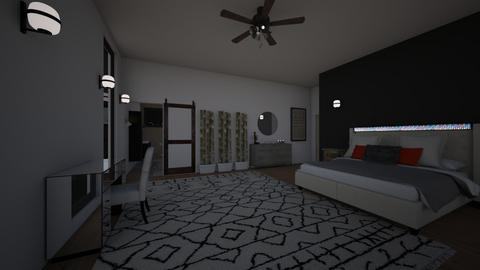 bed n bath of apartment - Bedroom - by eWrighT36
