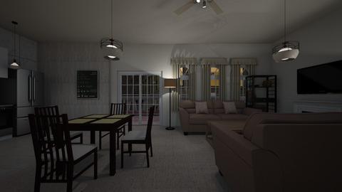 Loft Night 02 - Living room  - by mspence03