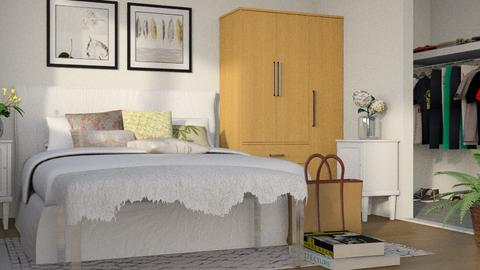 Flowered Apartment Bed - Modern - Bedroom  - by millerfam