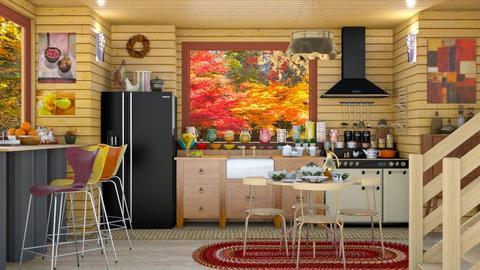 fall kitchen in tahoe - by Teri Dawn