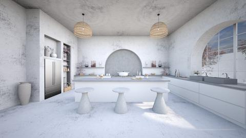 concrete kitchen - Kitchen - by Chiara Amadei