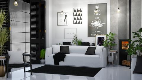 Black_White Living - Living room  - by KittyKat28