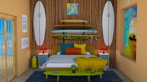 Surf Culture Bedroom - Retro - Bedroom  - by laurenpoisner