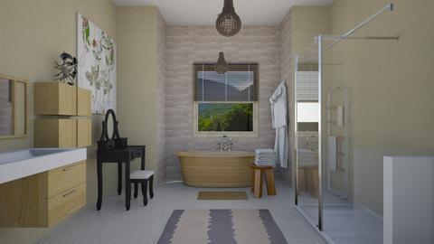 wood bath - Bathroom  - by steker2344