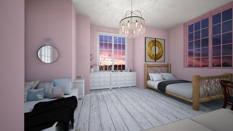 pink window room  - Glamour - Bedroom - by aschaper