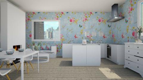 flower kitchen - Kitchen - by marijnv99