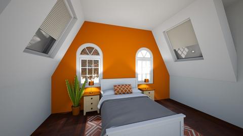 autumn bedroom - Bedroom  - by Ligidee