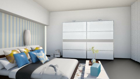 second bed room - Glamour - Bedroom - by Nourhaan Adel