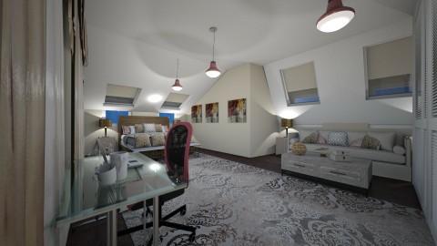 attic bedroom - Classic - Bedroom  - by kla