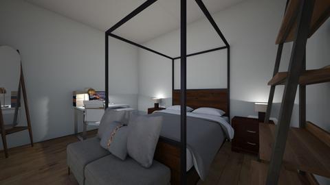 first vintage bedroom - Vintage - Bedroom  - by wafas_stickershop