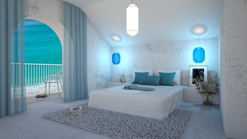 Modern Greek Bedroom - by zeneidezene