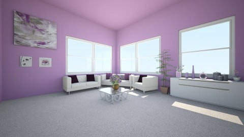 Lila and White - Classic - Living room - by libcabene