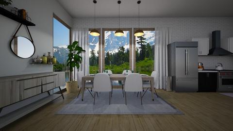 Scandinavian Dining Room  - by CaramelPopcorn
