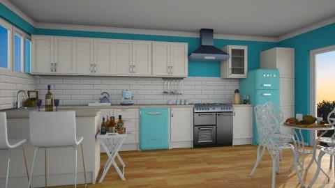 modern vintage kitchen - Modern - Kitchen  - by carina68