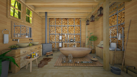 Nature_boho - Bathroom  - by Ida Dzanovic
