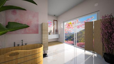 Cherry Blossom Bathroom - Bathroom  - by Louise Stafilidou Hedlund
