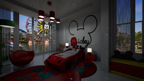 Mickey's Room - Kids room  - by Maria Helena_215