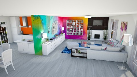 Bright and Colourful Room - Living room - by Shelley_1