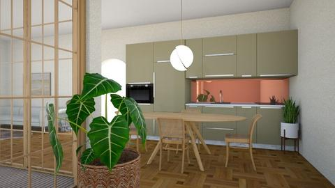 70s flat - Kitchen  - by jkulawiecova