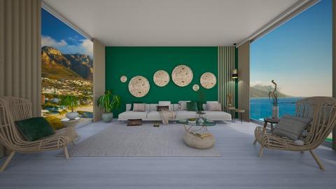 emerald living - Living room - by Teagan123