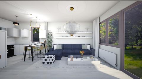 Casa Otopeni parter - Living room - by Art3miys