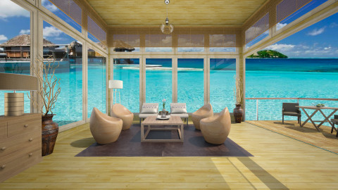 Bora Bora - Rustic - Living room  - by Lucii