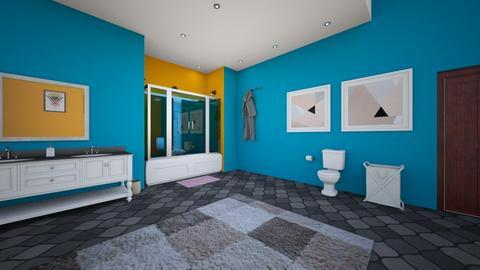 Blu Shower - Modern - Bathroom  - by designkitty31