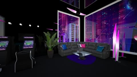 Fun Gaming Room - Retro - by light_of_grace
