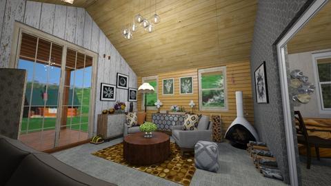 bee happy farm - Living room  - by Karen Priest