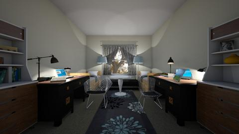College Dorm - Bedroom - by elena star