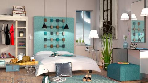 Turquoise and metal - Eclectic - Bedroom - by Sally Simpson