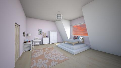 attic room - Bedroom  - by flame_dancer1