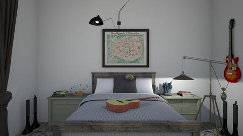Eclectic_music bedroom2 - Bedroom  - by lovasemoke
