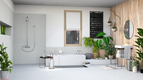 urban jungle bathroom - Bathroom - by miadesign
