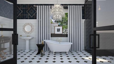 art deco bathroom - by Lo89