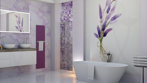 Lavender Bath - Bathroom  - by yonvie