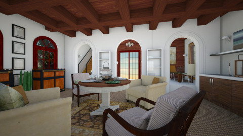 Spanish Coral - Classic - Living room - by lauracopey