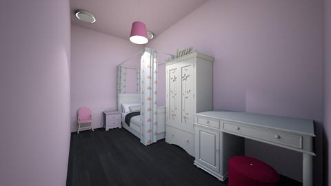 princess bedroom - Feminine - Kids room - by the ice magical unicorn