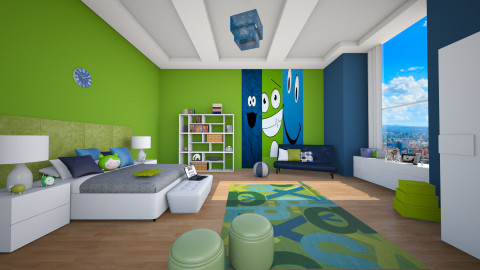 peacock room for teen - Modern - Kids room  - by Senia N