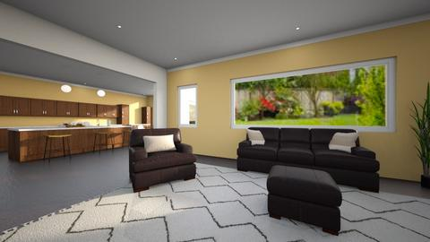 Living Area and Kitchen of House 1 - Living room  - by Taehyungie