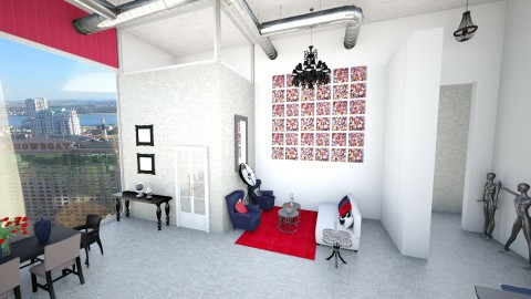 Hey Lofty - Living room - by Addie Smooches