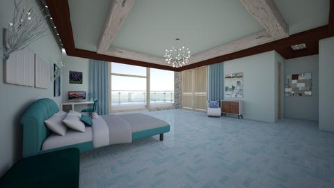 Blue Bedroom - Classic - Bedroom  - by JR xD22