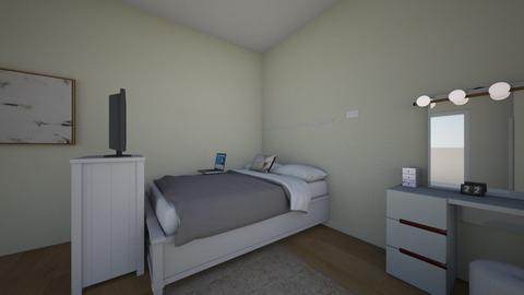 minimalistic white bedroo - Minimal - Bedroom  - by luvtaeyonggx