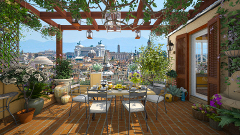 Terrace in Rome - Rustic - Garden  - by maja97