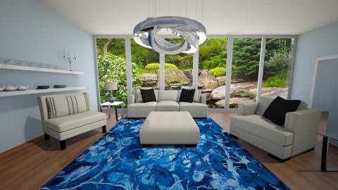 blue living  - Living room - by aerifia