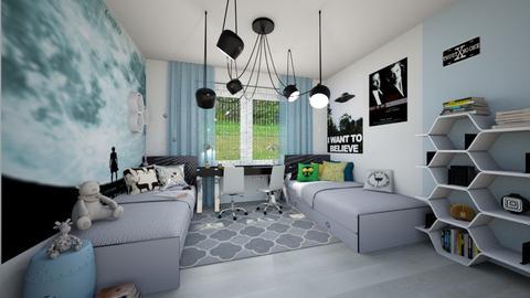 XFiles fan - Kids room  - by ewcia3666