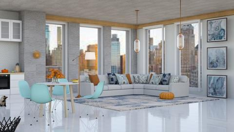 city view appartement I - Modern - Living room  - by vxckzz