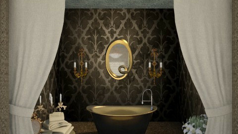 gold - Glamour - Bathroom  - by Sara alwhatever
