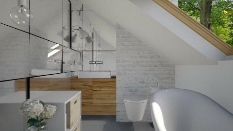 Attic Simple Bathroom - Eclectic - Bathroom  - by Maria Esteves de Oliveira